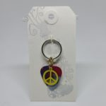 Peace Sign Key Ring