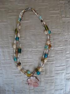 Three Strand Flower Necklace