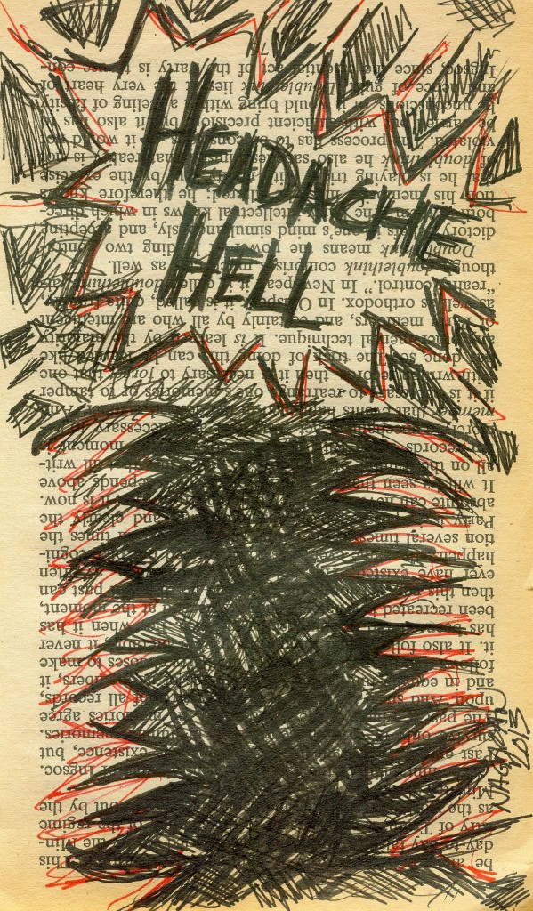 003 headache hell page drawing