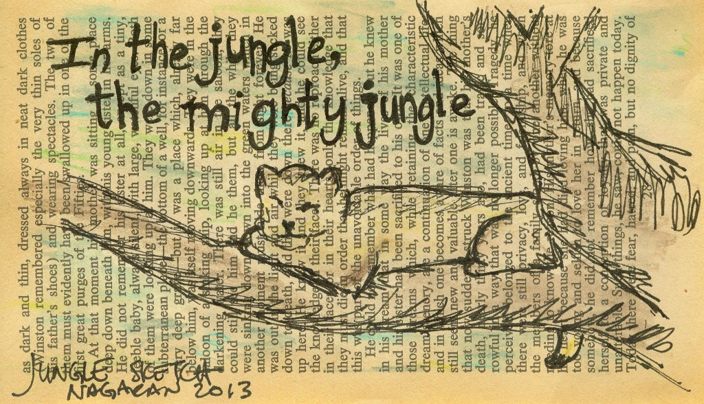 015 in the jungle sketch book page 2013