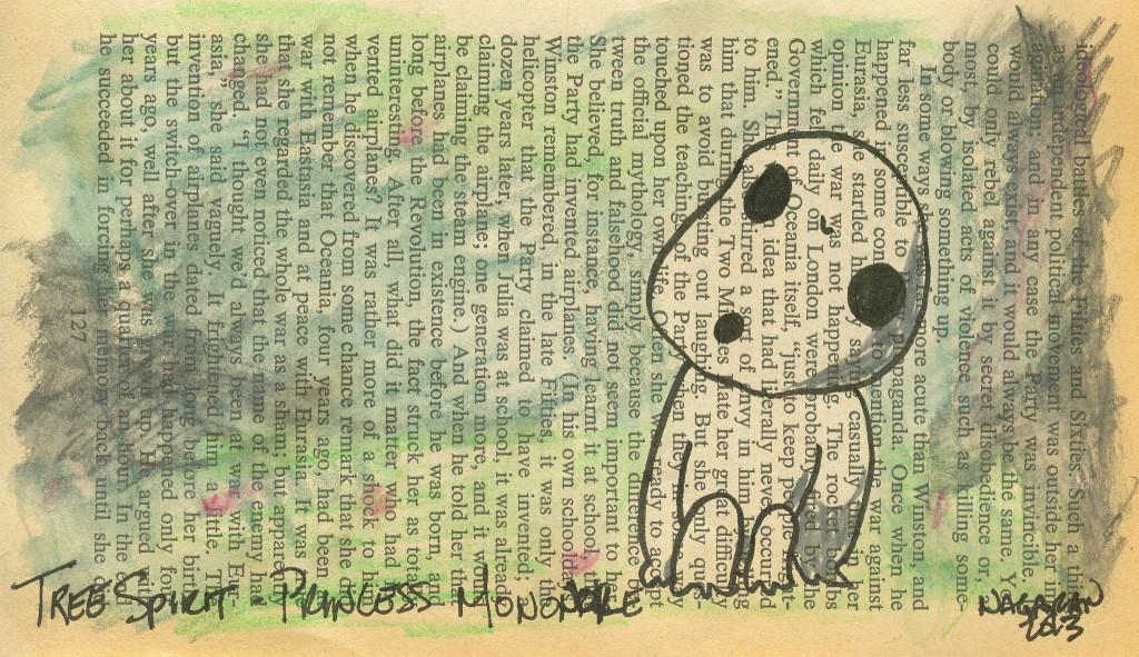 016 tree spirit princess mononoke fan art book page 2013