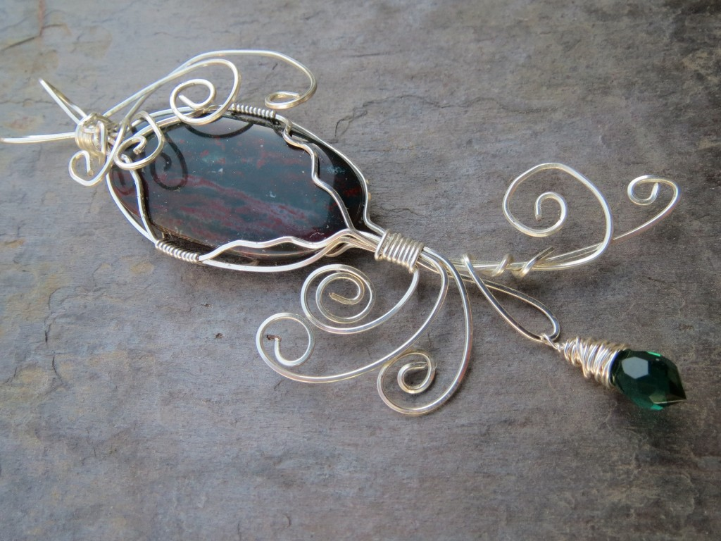 2nd wire wrapped pendant small